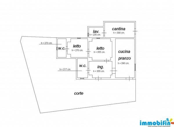 foto planimetria Villa unifamiliare, buono stato, 102 mq, Oria
