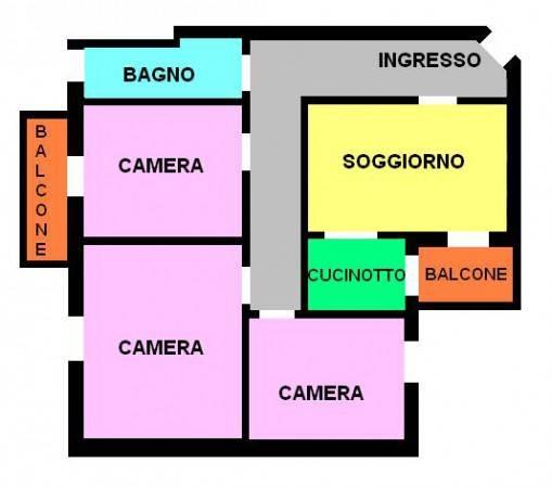 foto planimetria Quadrilocale buono stato, primo piano, Piacenza