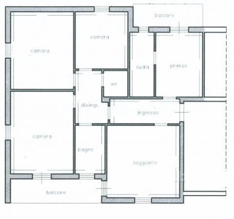 foto Planimetria Wohnung via Giuseppe Verdi, Campello sul Clitunno