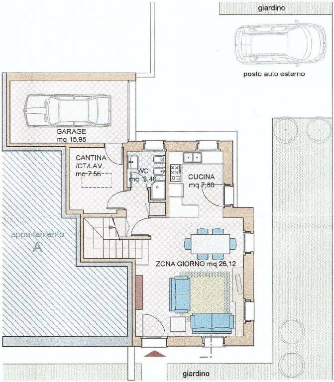 foto plan aa Terraced house via Roma, Vidor