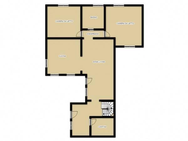 foto planimetria 1 3-room flat via pozzo, 8, Rivolta d'Adda