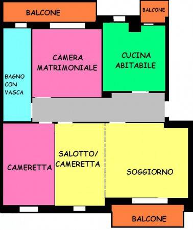 foto planimetria Quadrilocale buono stato, quarto piano, Milano