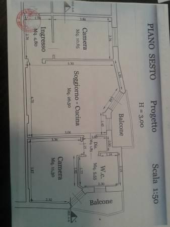 foto planimetria Trilocale via 25 Aprile 14, Borghetto Santo Spirito