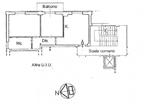 foto planimetria Trilocale via romita, 11, Imperia