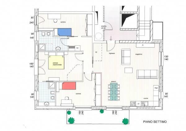 foto planimetria versione A 4-room flat via Monte Nero 73-A, Galliate