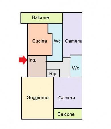 foto planimetria 3-room flat via 25 Aprile 39, Cinisello Balsamo