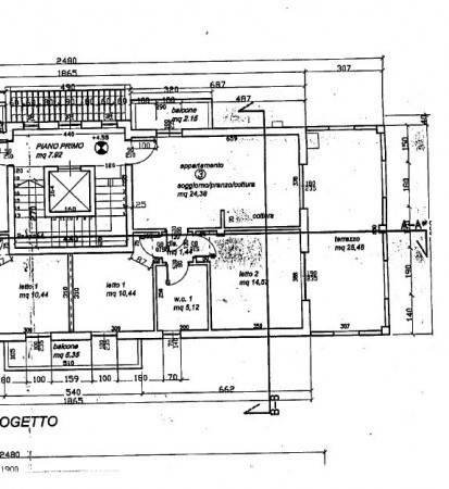 foto planimetria appartamento Trilocale via Risorgimento 3, Cerro Maggiore