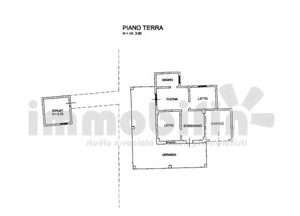 foto planimetria Villa unifamiliare, buono stato, 85 mq, Oria