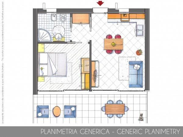 foto Planimetria Bilocale nuovo, piano terra, Parzanica
