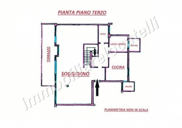 foto planimetria Apartment via Roma, Fiorano al Serio