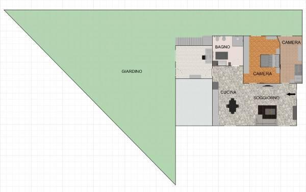 foto Piantina 3-room flat via Caravaggio 15, Treviglio