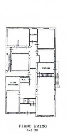 foto planimetria P.1° Casa indipendente via A  Fantozzi, Pontedera