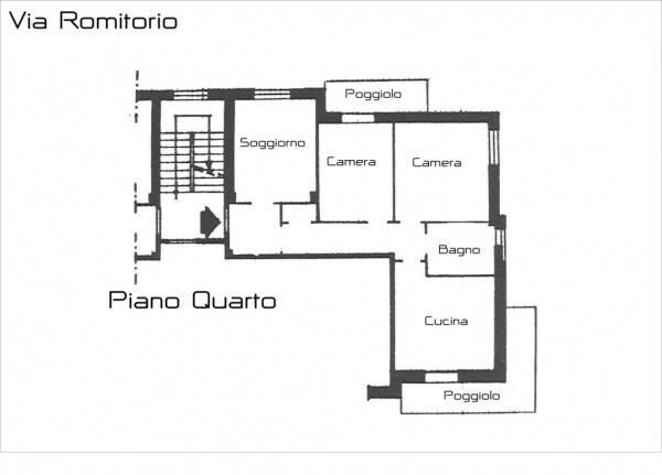 foto Planimetria 3-room flat via Romitorio 200, Masone