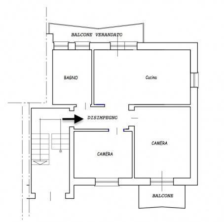 foto Plan. Alloggio Trilocale Villaggio Unrra 12, Boves
