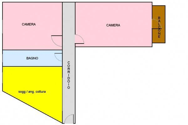 foto planimetria Trilocale corso G  Garibaldi, 182, Orte