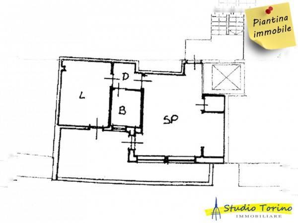foto Planimetria Bilocale via Sondrio 13, Torino