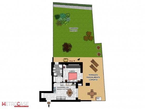foto Planimetria 2D 2-room flat via Isolabella 41BIS, Poirino