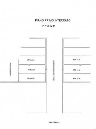 foto Planimetria Box / Garage via Onorato Vigliani 5, Torino