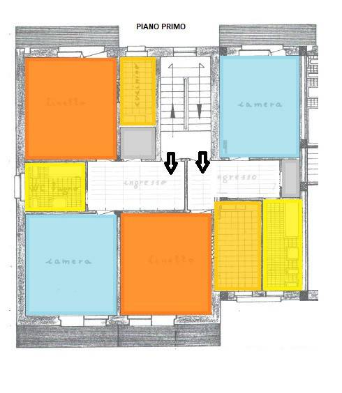 foto piano primo Appartamento buono stato, primo piano, Settimo Torinese