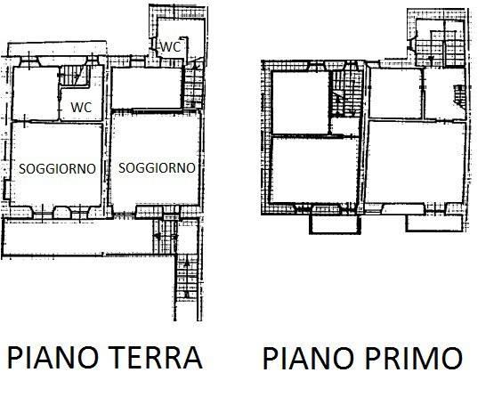 foto Piantina Rustico via broglia, 25, Mombello di Torino