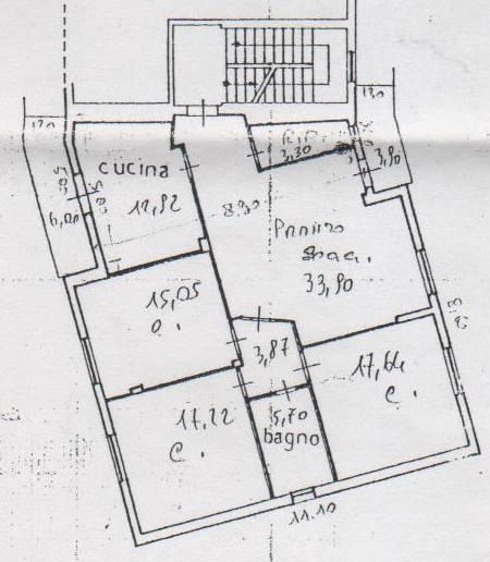 foto planimetria Appartamento buono stato, primo piano, Sant'Omero