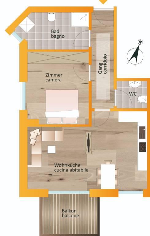 foto planimetria Zweizimmerwohnung Laubmoos 13, Gais