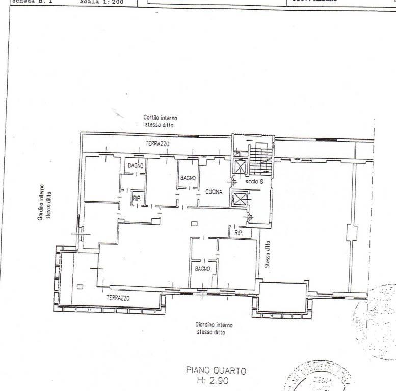 foto piantina Appartamento via Fratelli Cervi, Segrate