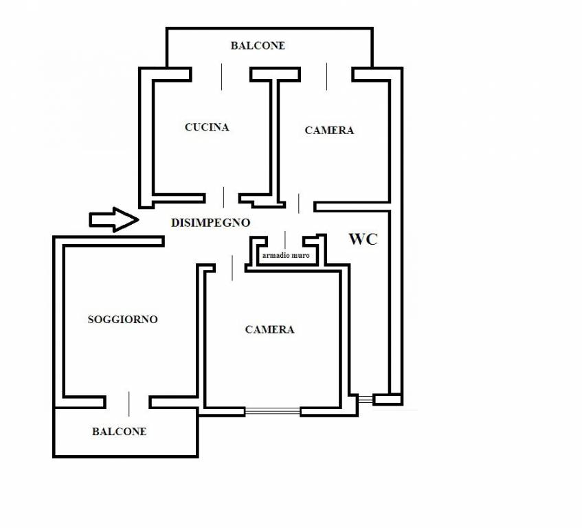 foto planimetria 4-room flat via Siccardi 24, Verzuolo
