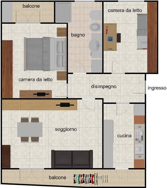 Vendita Appartamento Gessate. Trilocale in via San Gaetano 6 ...