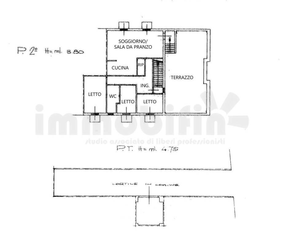 foto planimetria Appartamento buono stato, secondo piano, Oria