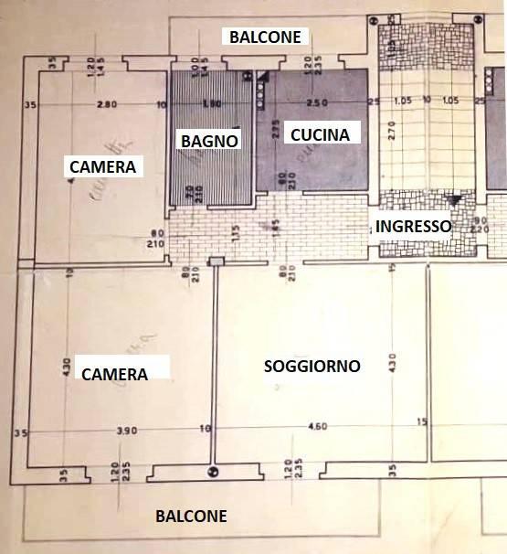 foto planimetria Trilocale viale Camillo Golgi 26, Pavia