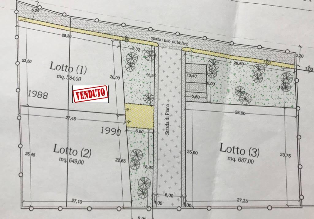 foto piantina Terreno edificabile residenziale a Tortoreto