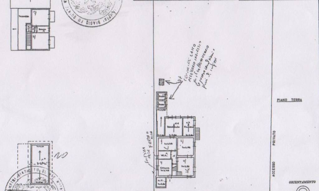 foto planimetria Casa indipendente via San Giuseppe 32, Controguerra