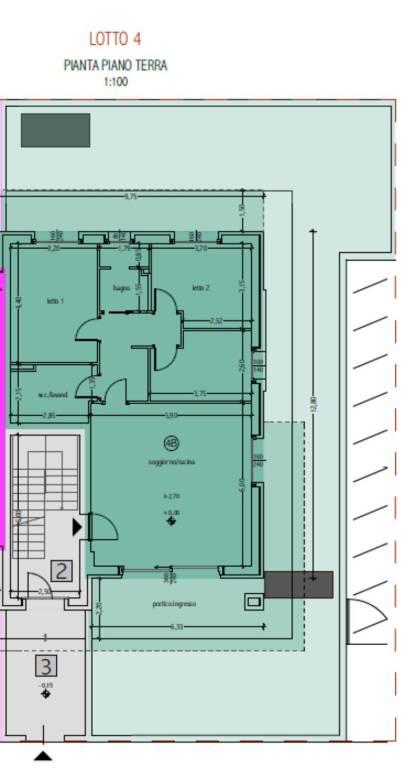 foto Planimetria Appartamento nuovo, piano terra, San Giovanni Lupatoto