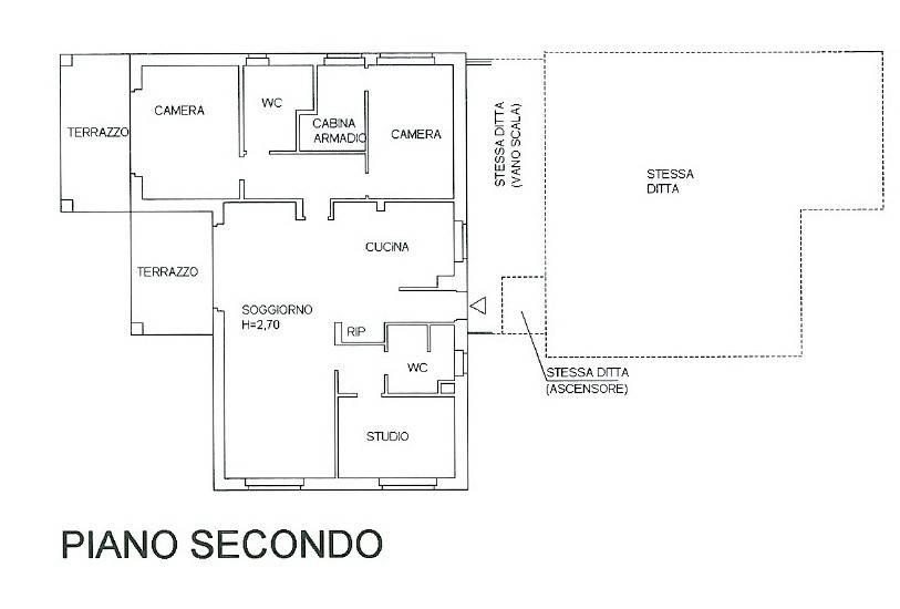 foto Planimetria alloggio Apartment via Tiziano Vecellio 22, Racconigi