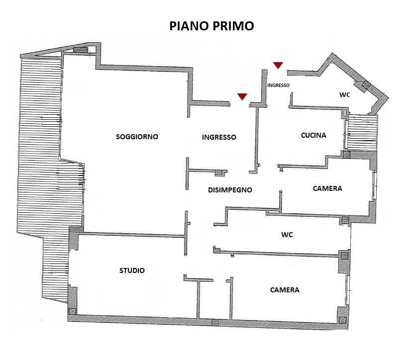 foto Planimetria Quadrilocale via Monte Rosa, Milano