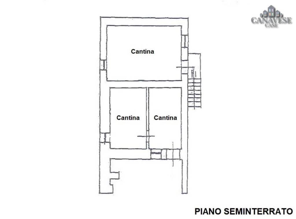 foto piantina Detached house frazione Ferrero 2A, Canischio