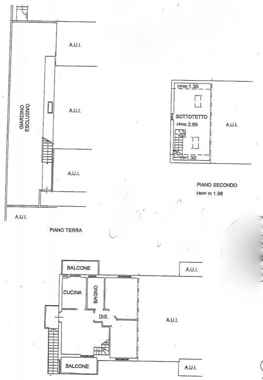 foto Planimetria n. 1 Appartamento in villa via dei Livelli Nuovi, Ciserano