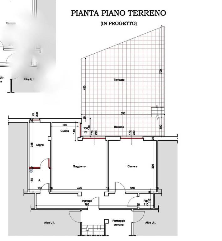 foto planimetria appartamento 2-room flat via Don Bosco 34, Buttigliera d'Asti