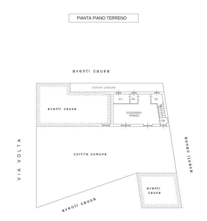 foto Piano Terra alloggio 1 Villa bifamiliare via Alessandro Volta 49, Settimo Torinese