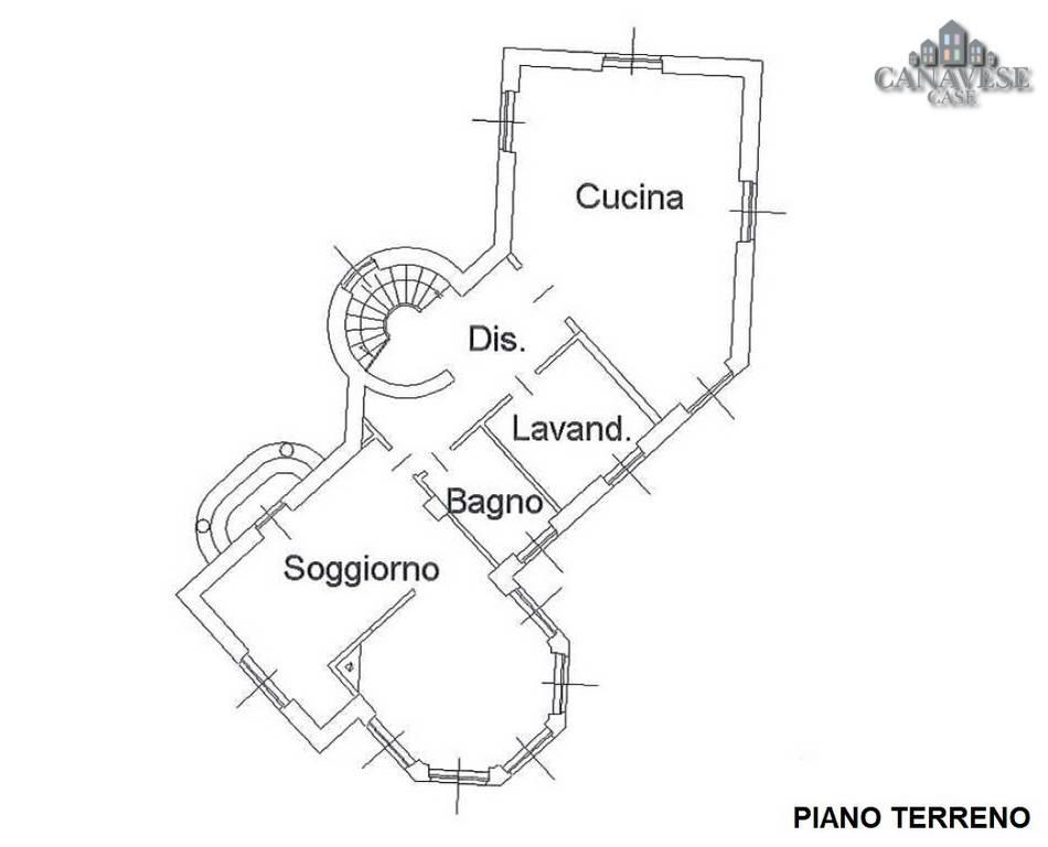 foto planimetria Single family villa via Provinciale, Colleretto Giacosa