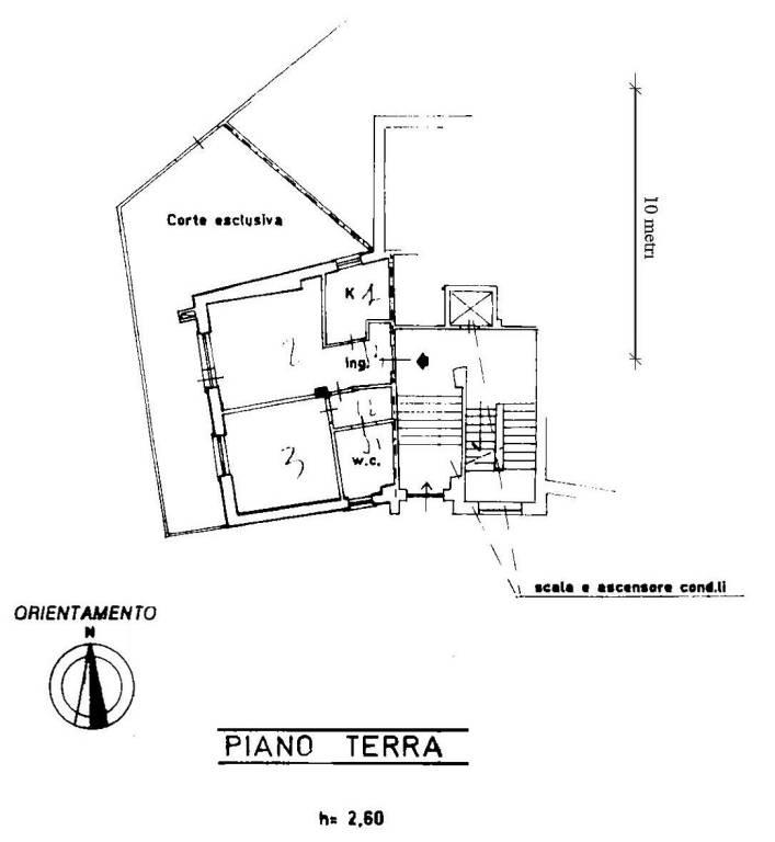 foto Planimetria Trilocale ottimo stato, piano terra, Rocca di Mezzo