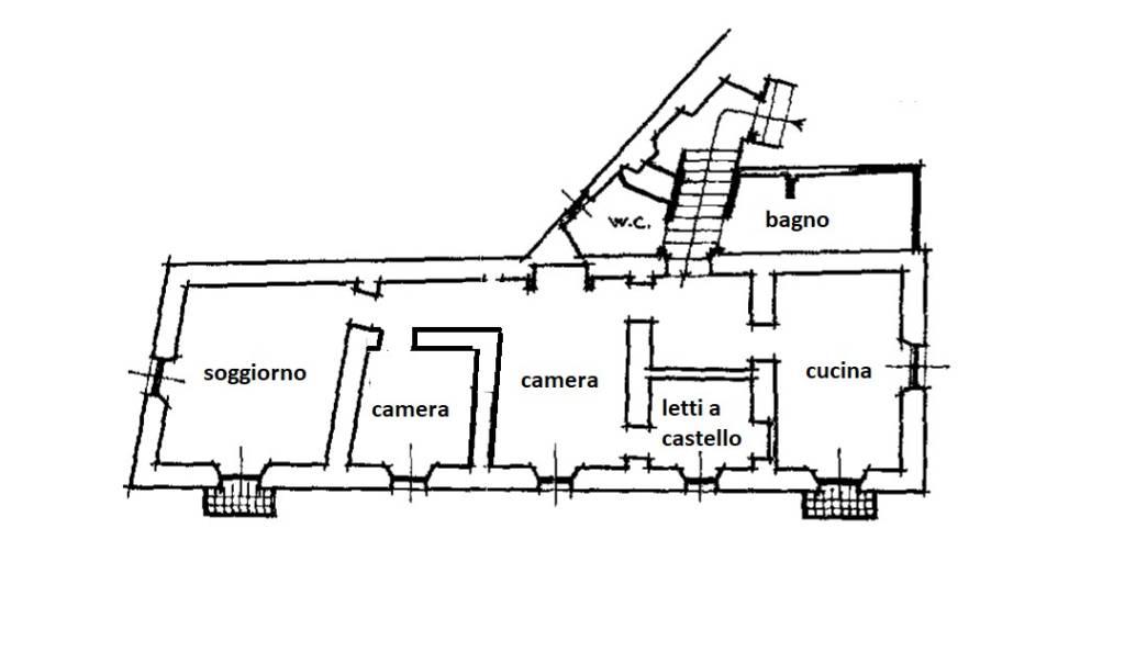foto planimetria Quadrilocale via Veziano, Isolabona