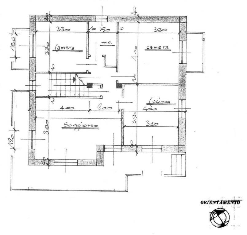 foto Pianta piano rialzato Single family villa via Case Benna 3, Reano