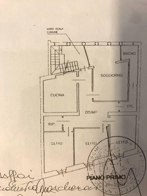 foto planimetria 4-room flat via Andrea Fantoni, Alzano Lombardo