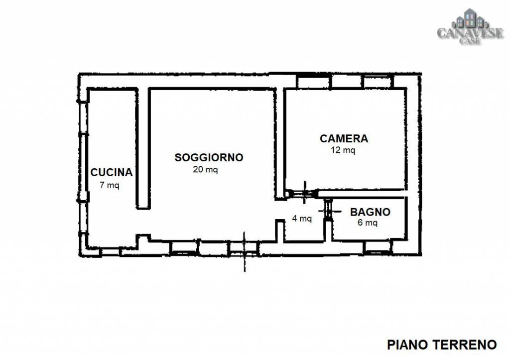 foto piantina 2-room flat via Roma 41, Pratiglione