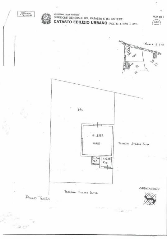 foto planimetria Terreno agricolo in Vendita a Piedimonte Etneo
