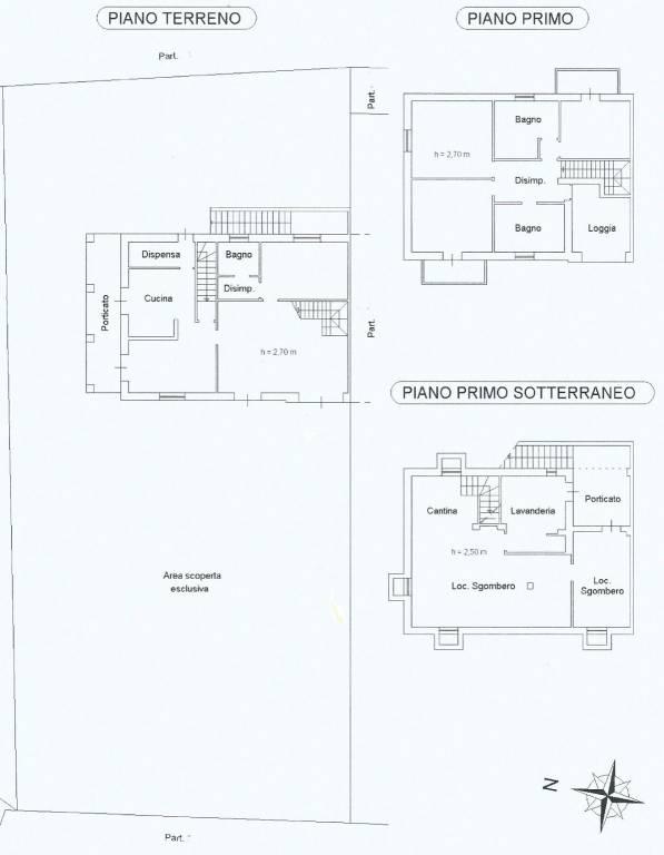 foto plan Detached house via, La Morra