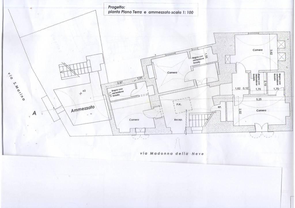foto pianta piano terra Palazzo / Stabile via Madonna della Neve, Salve
