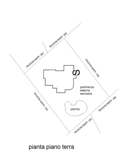 foto Planimetria Villa via Guglielmo Marconi 1, Pozzolengo